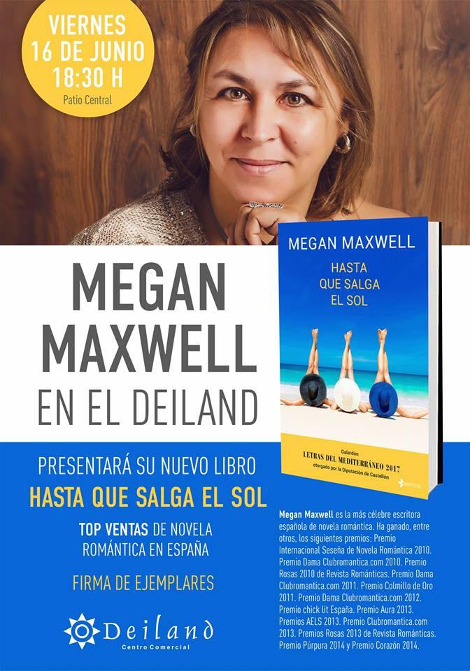"""Megan Maxwell presenta """"Hasta que salga el sol"""" en el"""