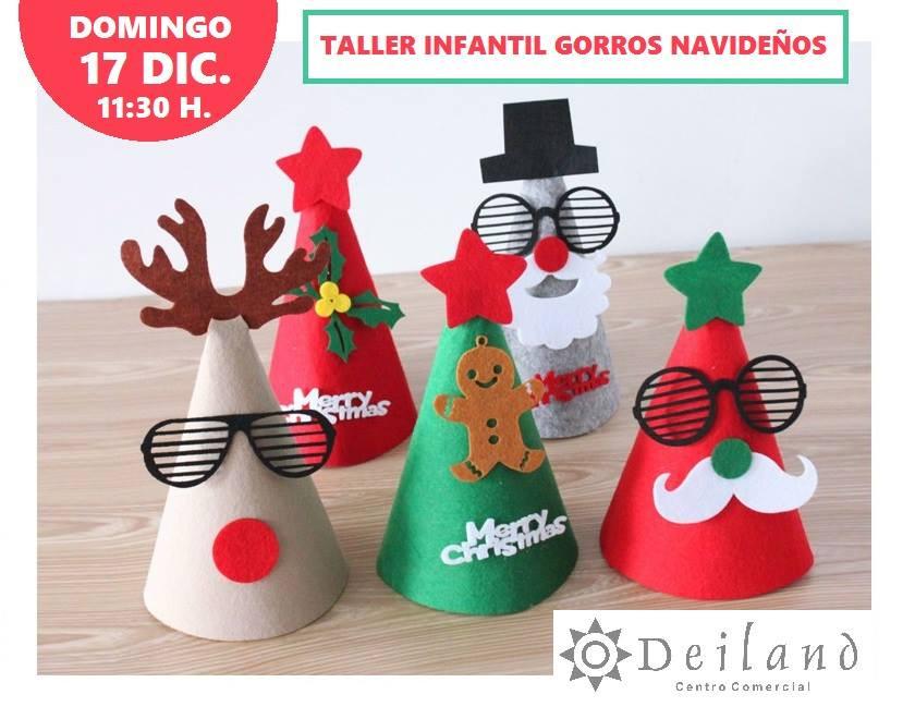"""Taller Infantil: """"Gorros Navideños"""". Deiland"""